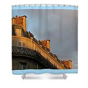 Paris At Sunset Shower Curtain