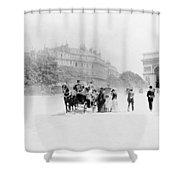 Paris Avenue Foch, C1895 Shower Curtain
