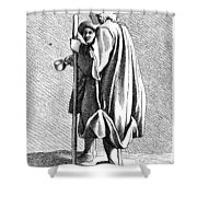Paris Beggar, C1740 Shower Curtain