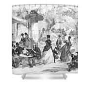 Paris: Boulevard, 1872 Shower Curtain