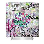 Paris By Jan Marvin Shower Curtain