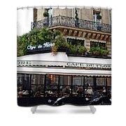 Paris Cafe De Flore - Paris Fine Art Cafe De Flore - Paris Famous Cafes And Street Cafe Scenes Shower Curtain