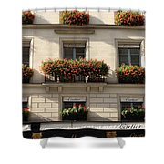Paris Cartier Window Boxes - Paris Cartier Windows And Flower Boxes - Cartier Paris Building  Shower Curtain