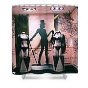 Superb Paris Chantal Thomass Lingerie Shop   Paris Luxury Lingerie Boutique  Mannequins Art Deco Shower Curtain