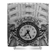 Paris Clocks 3 Shower Curtain by Andrew Fare