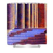 Paris Columns Shower Curtain by Chuck Staley