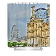 Paris Ferris Wheel Shower Curtain