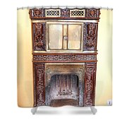 Paris Fireplace Shower Curtain