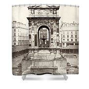 Paris Fountain, C1858 Shower Curtain