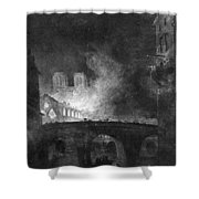 Paris, France Fire, 1773 Shower Curtain
