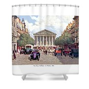 Paris France - The Rue Royal And The Madeleine - 1910 Shower Curtain