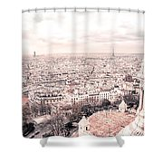 Paris From Above - View From Sacre Coeur Basilica Shower Curtain