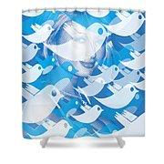 Paris Hilton Twitter Shower Curtain