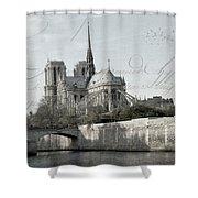 Paris History Shower Curtain