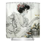 Paris Holiday  1904 Shower Curtain