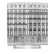 Paris Houses, 1841 Shower Curtain