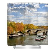 Paris In Autumn Shower Curtain