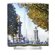 Paris In The Fall 1954 Shower Curtain by Chuck Staley