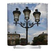 Paris Lamp Post Shower Curtain