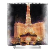 Paris Las Vegas Photo Art Shower Curtain