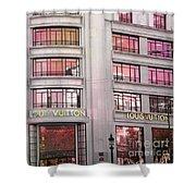 Paris Louis Vuitton Boutique Fashion Shop On The Champs Elysees Shower Curtain