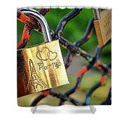 Paris Love Lock Shower Curtain