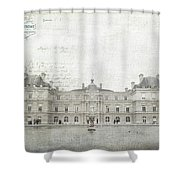 Paris Luxembourg Shower Curtain