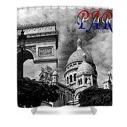 Paris Montage 2 Shower Curtain