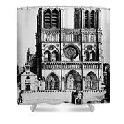 Paris Notre Dame, 1699 Shower Curtain