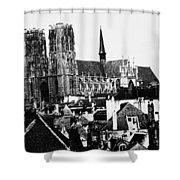 Paris Notre Dame, 1862 Shower Curtain