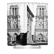 Paris Notre Dame, C1860 Shower Curtain