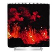 Paris On Fire Shower Curtain