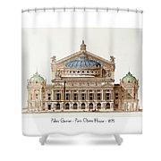 Paris Opera - 1875 Shower Curtain