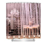 Paris Repetto Ballerina Tutu Shop - Paris Ballerina Dresses Window Display  Shower Curtain