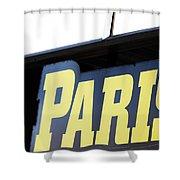 Paris Sign Shower Curtain