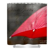 Paris Spring Rains Shower Curtain