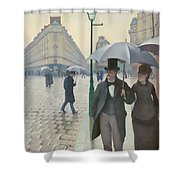 Paris Street In Rainy Weather Shower Curtain