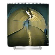 Paris Subway Connecting Tunnel Shower Curtain