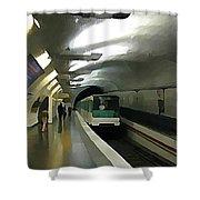 Paris Subway  Shower Curtain