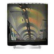 Paris Subway Tunnel Shower Curtain