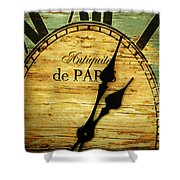 Paris Time Shower Curtain