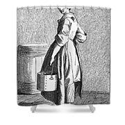 Paris Walnut Vendor, C1740 Shower Curtain
