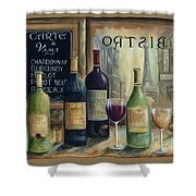 Paris Wine Tasting Shower Curtain by Marilyn Dunlap