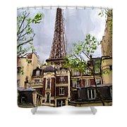 Parisian Icon Shower Curtain