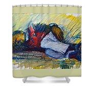 Park Bench Sleeper Shower Curtain