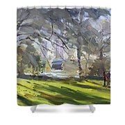 Park By Niagara Falls River Shower Curtain