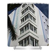 Park Central Building - Miami Shower Curtain
