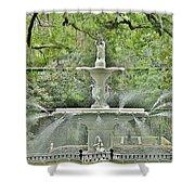Forsyth Park Fountain - Savannah Georgia Shower Curtain