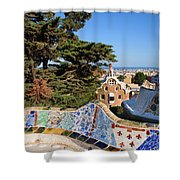 Park Guell In Barcelona Shower Curtain