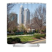 Park In Uptown Charlotte Shower Curtain